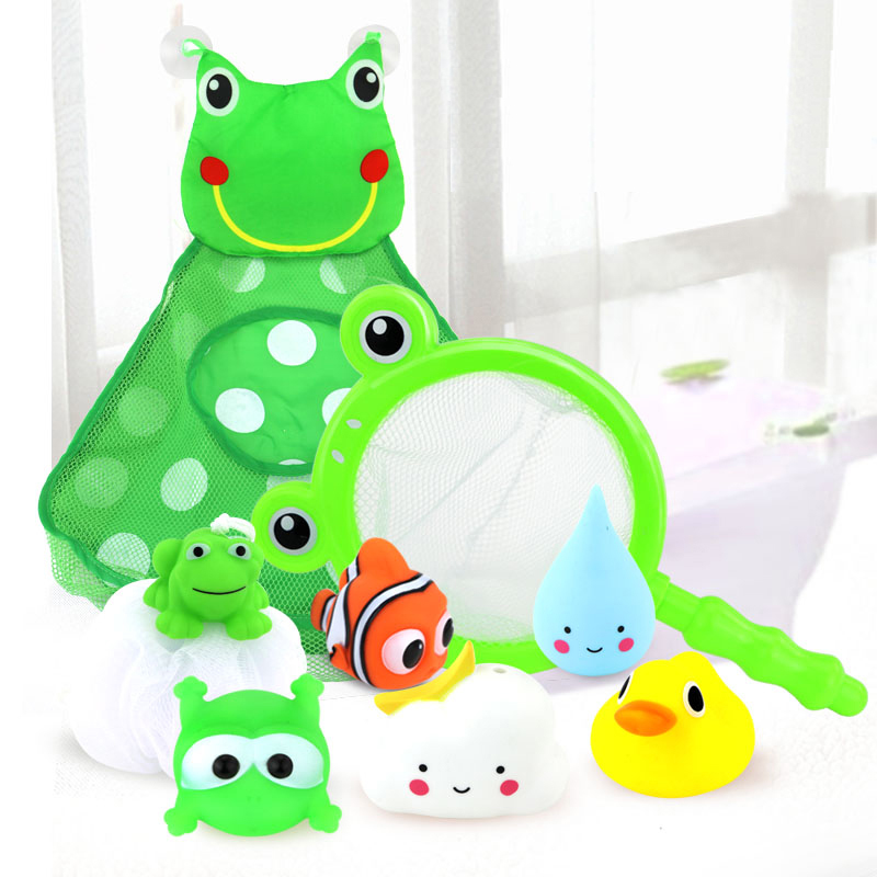 Baby Bath Toys Set Cute Frog Duck Water Toy Take A Bath Toys For Children Duck Playing With Water Toy