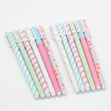 6 Pcs/Set gel pen kawaii 0.38mm cute tinta plastic Festoon office lapices supplies papelaria stationery kalem material escolar 10 pcs set gel pen refill kawaii 0 5mm cute blue red black office lapices supplies papelaria stationery kalem material escolar