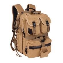 Canvas Digital Large Dslr Camera Bag Waterproof Professional Camera Travel Photo Double-Shoulder Backpack Bag