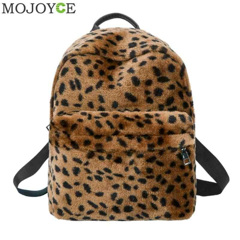 874c1042dc93 Leopard Printed Backpack Casual Women Backpacks for Teenage Girls Travel  Shoulder Bag Female School Bags Soft