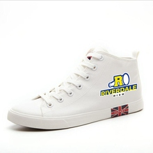 Riverdale Printed Cartoon high heel canvas uppers sneakers college personalise Trendy Sandshoes  A193111