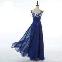 New Elegant Women Lace Chiffon Floral Mesh Formal Ball Gown Evening Party Long Dresses
