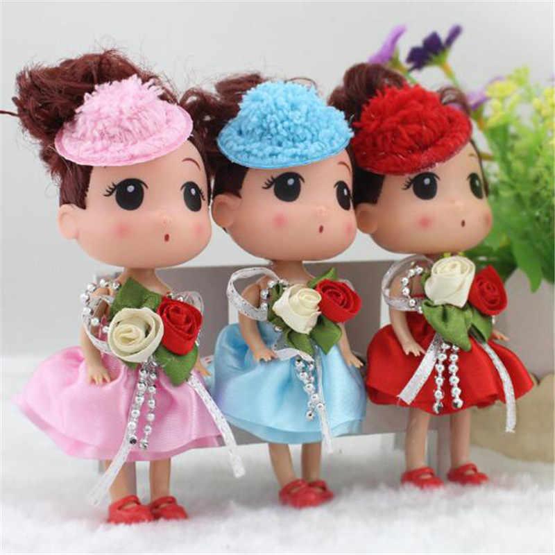 Милый мини-силикон девочка путающая кукла игрушка куклы для торта Маленькая подвеска мягкие игрушки для детей рождественские подарки 2019 Новинка Горячая Распродажа 12 см 1 шт