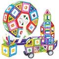 140 unids magnéticos grandes modelos de construcción de juguete bloque de construcción enlighten plástico modelo kits de juguetes educativos para niños de regalo