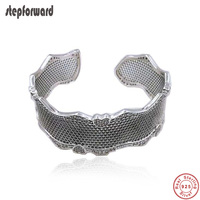 New Collection High Quality Popular Big Open Mouth 100% 925 Sterling Silver Lace Of Love Bangle Bracelets For Women Jewelry Gift