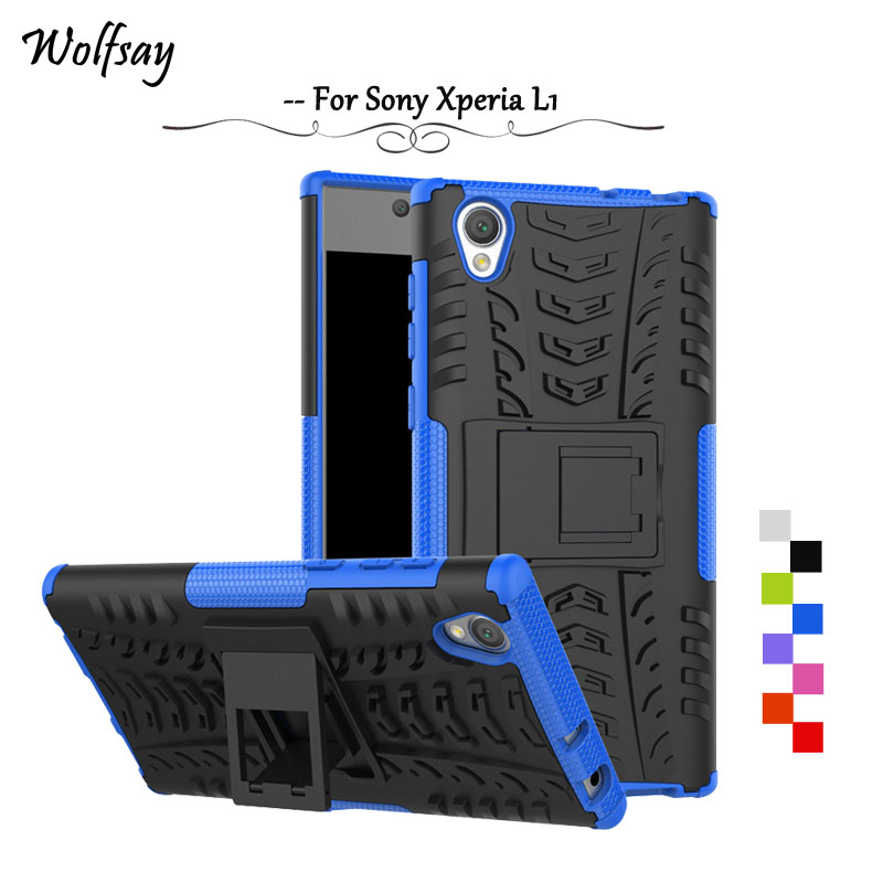 Wolfsay <font><b>For</b></font> Cover <font><b>Sony</b></font> Xperia L1 <font><b>Case</b></font> Cover Tough Impact Funda <font><b>For</b></font> Phone <font><b>Case</b></font> <font><b>Sony</b></font> Xperia L1 <font><b>Case</b></font> <font><b>For</b></font> <font><b>Sony</b></font> L1 <font><b>G3312</b></font> Rubber Coque image