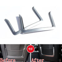 BBQ@FUKA Chrome ABS Seat Back Net Storage Bag Luggage Pocket Frame Trim Cover Styling Sticker Fit For BMW 2 3 4 Series