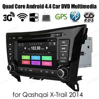 For QashQai XTrail 2014 Quad Core Android4.4 Car DVD player support dab+ WiFi 3G GPS 8'' 2 din Radio auto Stereo