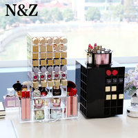 N&Z Best Selling 360 Degree Rotating Lipstick Holder Storage Box Case Cosmetic Jewelry Organizer Box Makeup Storage Stand Holder