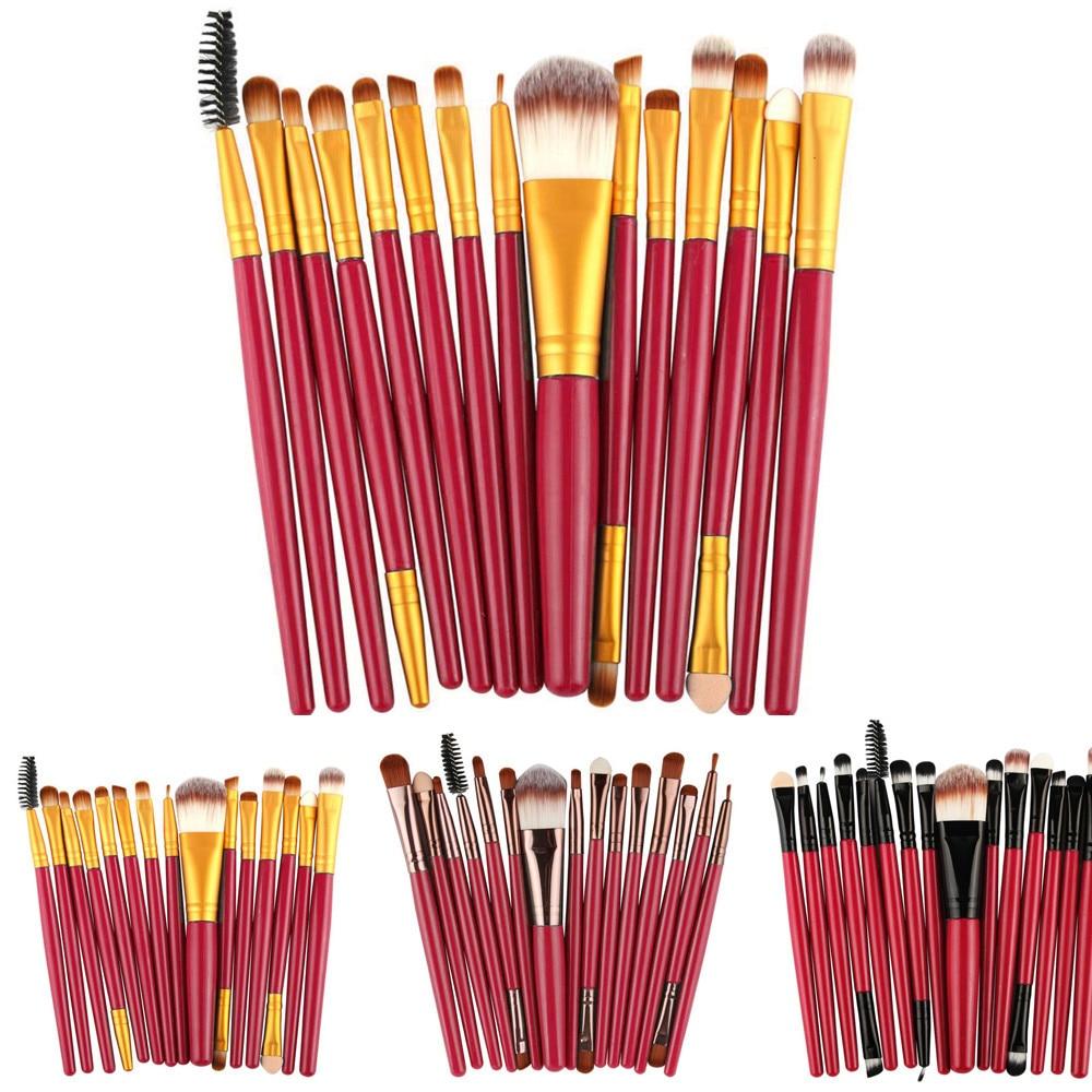 15 pcs/Sets Eye Shadow Foundation Synthetic Bristles Beauty Eyebrow Lip Brush Makeup
