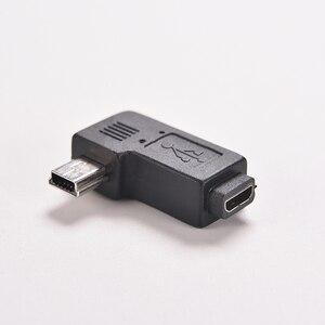Image 5 - 1PC Schwarz Micro/Mini 4 Typ Gerade/L Form USB Weiblichen zu Mini/Micro USB Männlich adapter Ladegerät Stecker Konverter Adapter