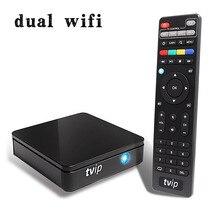 Mini Caja de TVIP 415 Dual WiFi Amlogic Quad Core 5 GB Android 4.4/Dual OS Linux Smart TV Caja Soporte H.265 DLNA Airplay Mag 250