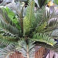 Yapay Phoenix Hindistan Cevizi Hurma Cycas Fern Bitki Ağaç Ev Bahçe Mobilya Dekor Yeşil FL7004