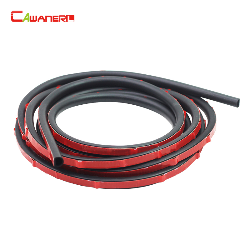 Cawanerl Small D Car Door Hood Rubber Seal Strip