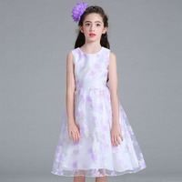 New Summer Toddler Girls Princess Dress Elegan Flower Costume Fashion 2017 Vestido Children Party and Wedding Teenagers Clothing