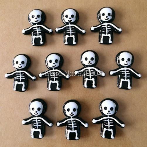 Lot 10pcs Skull Skeleton for Halloween Party Resin Cabochon ...