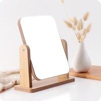Creative wooden portable desktop mirror makeup mirror desktop desktop vanity mirror beauty mirror WF4031927