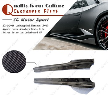 Car Accessories Carbon Fiber APA Style Side Skirt 2pcs Fit For 2014-2016 Huracan LP610 Side Skirts Extention Underboard