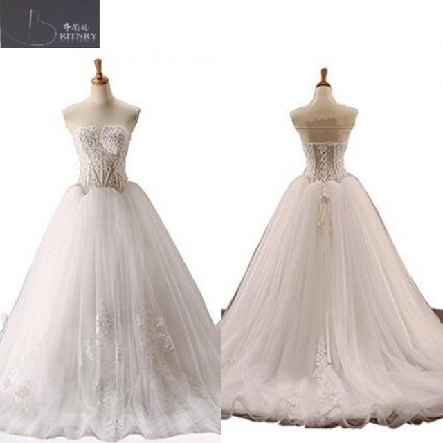 Vintage Victorian Wedding Dress Sweetheart Neck Illusion Bodice Lace ...