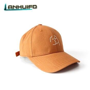 LANHUIFD mujeres Snapback gorras beso creativo bordado Hip Hop Cap beso  gorra de béisbol hombres amantes 0b8468793d5