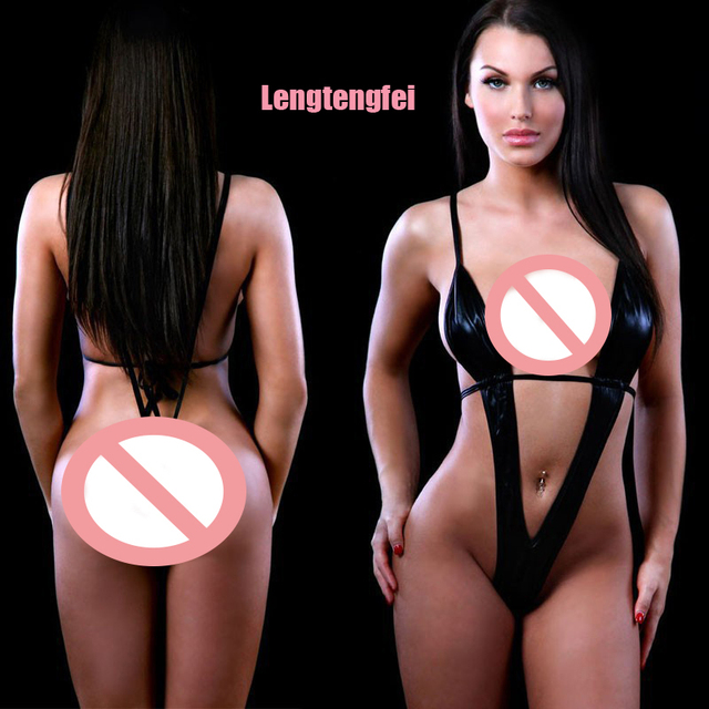 38e2a62c1 2017 Plus Size Women s Sexy Lingerie Hot Black Leather Erotic Lingerie  Teddy Sexy Underwear Sexy Costumes Lenceria Sexy Lingerie