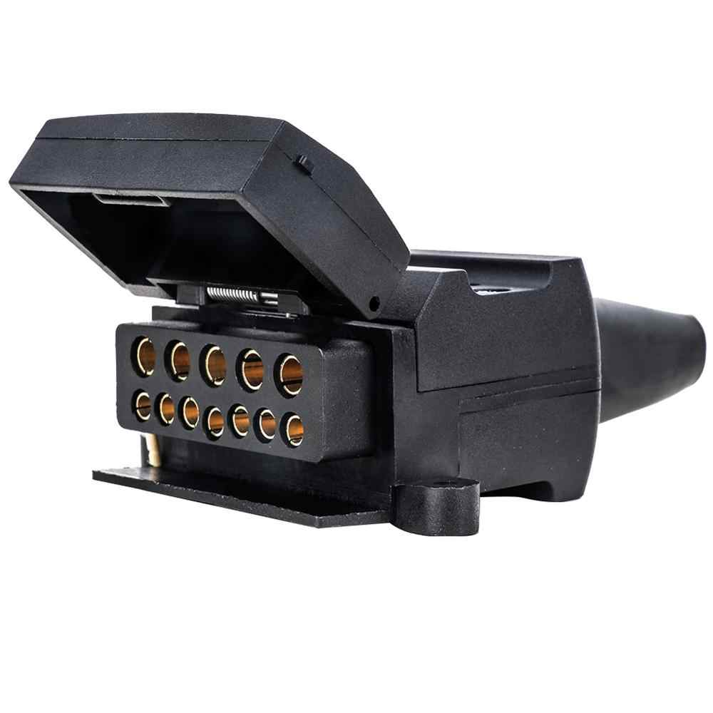 Tahan Air 12 PIN Flat Perempuan Soket Trailer Konektor untuk Mobil Kemping Caravan PVC Cover (Australia) 12 PIN Flat Male Plug