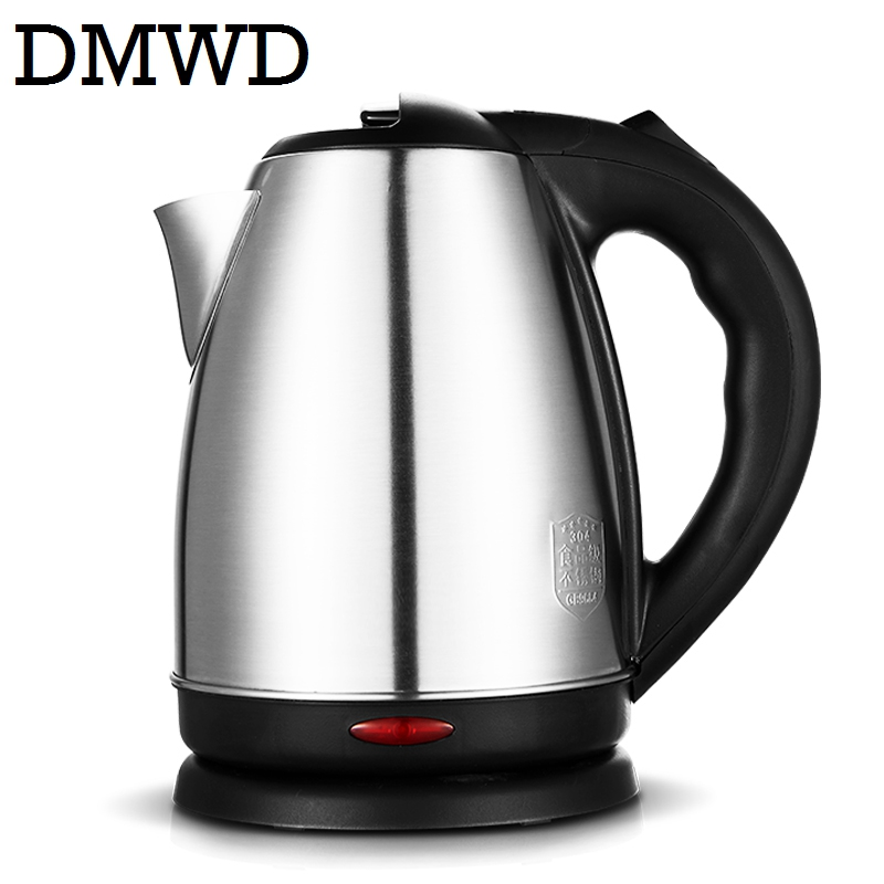 DMWD Split Style Stainless Steel Quick Heating Auto Electric Kettle Hot water boiler tea pot heater teapot EU US plug 1500w 1.8L 220v 600w 1 2l portable multi cooker mini electric hot pot stainless steel inner electric cooker with steam lattice for students
