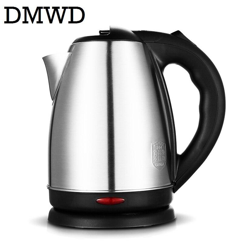 DMWD Split Style Stainless Steel Quick Heating Auto Electric Kettle Hot water boiler tea pot heater teapot EU US plug 1500w 1.8L