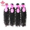 "Queen Hair Products Best Quality Hair, 4pcs/lot 8""-30"" Brazilian Virgin Hair Deep Wave, Unprocessed Virgin Human Hair Hot Sale"