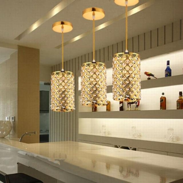 LED Lámparas colgantes oro moderno cristal lámpara colgante para ...