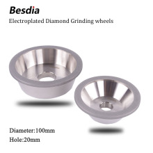 Taiwan Besdia Diamond Grinding Wheel 100D*19.05(3/4)H/20H free shipping of 1pc high qualit 150 100d 10w 5u 20h 35t alloy wheel bowl diamond grinding wheel for alloy blade sharpening
