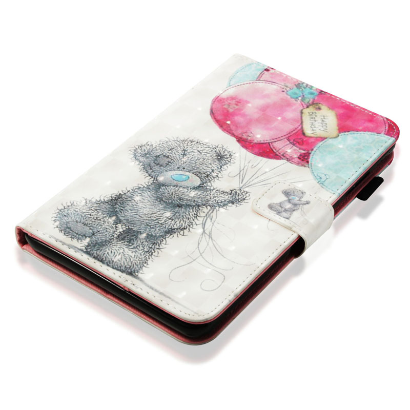 Funda For Amazon Kindle Fire 7 2017 Fashion 3D Pattern Leather Flip Wallet Case Cover For Fire 7 2015 Coque Shell in Tablets e Books Case from Computer Office