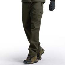 Cargo Pants Winter Tactical Fleece Soft Shell Mens Military Working Camouflage Trousers Thick Warm Waterproof Windproof Clothing