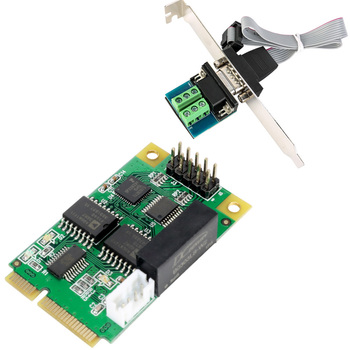 Mini PCIe USB TO RS422 RS485 Port Card for Intel Mini ITX Mini PCI-E RS-422 485 232 COM Controller Card
