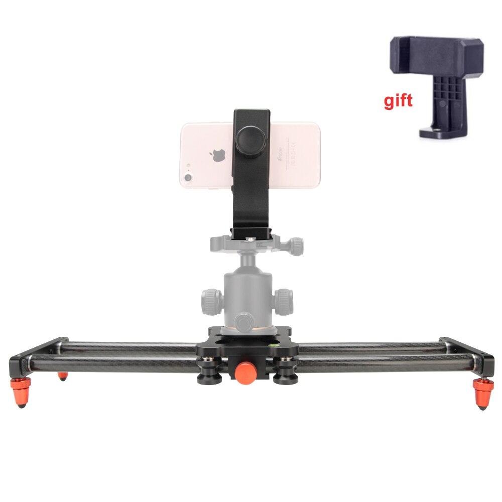 40CM Camera Slider Rail Adjustable Carbon Fiber Camera Dolly Track Slider Video Stabilizer Rail For DSLR Camera Photography