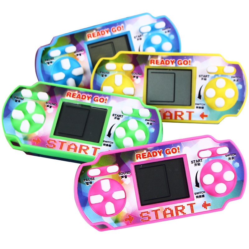 Children Classical Players Portable Handheld Video Game Console Tetris kids Gaming Controller (no battery,send color by random)