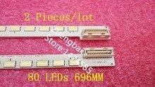 2 Pieces*80 LEDs 696MM LED strip 55″ V6 Edge FHD-1 Rev1.0 1 R L type for 3660L-0376A 55LW5500 LC550EUN(SD)(F1) LED55T36X3D
