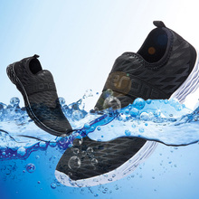 Summer Outdoor Shoes Men Mesh Fishing Water Shoes Lightweight Breathable Quick Dry Mesh Creek Beach Wading Upstream цена
