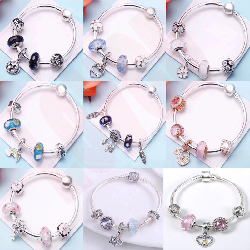 2018 Authentic 925 Silver Charms Beads snake bracelet Fit Original Bracelets WITH charms 925 Sterling Silver Jewelry Women gift все цены
