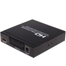 ЕС разъем scart + HD видео конвертер AV Переходник SCART HDMI 720 P/1080 P конвертер audiostecker Высокое качество Бесплатная Доставка