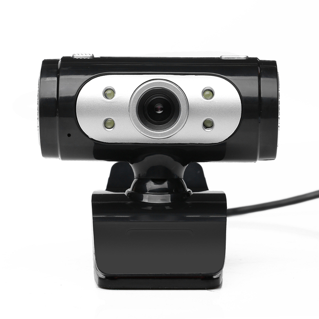 High Definition 1280*720 720p 4 LED Light HD Webcams Web Cam Camera with Night Lights for Computer Built-in Digital Microphone 2