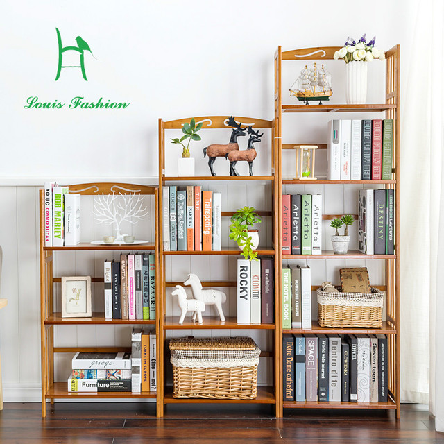 Creative Combination Of Simple Shelf Solid Wood Multi Layer Bookcase Students Dormitory Bookshelf Children