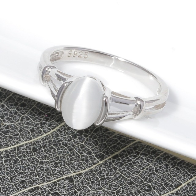 CiNily Authentic 925 Sterling Silver Latesst Twilight Bella Moonstone Wholesale for Women Jewelry Wedding Ring Size 6-10 SR001 3