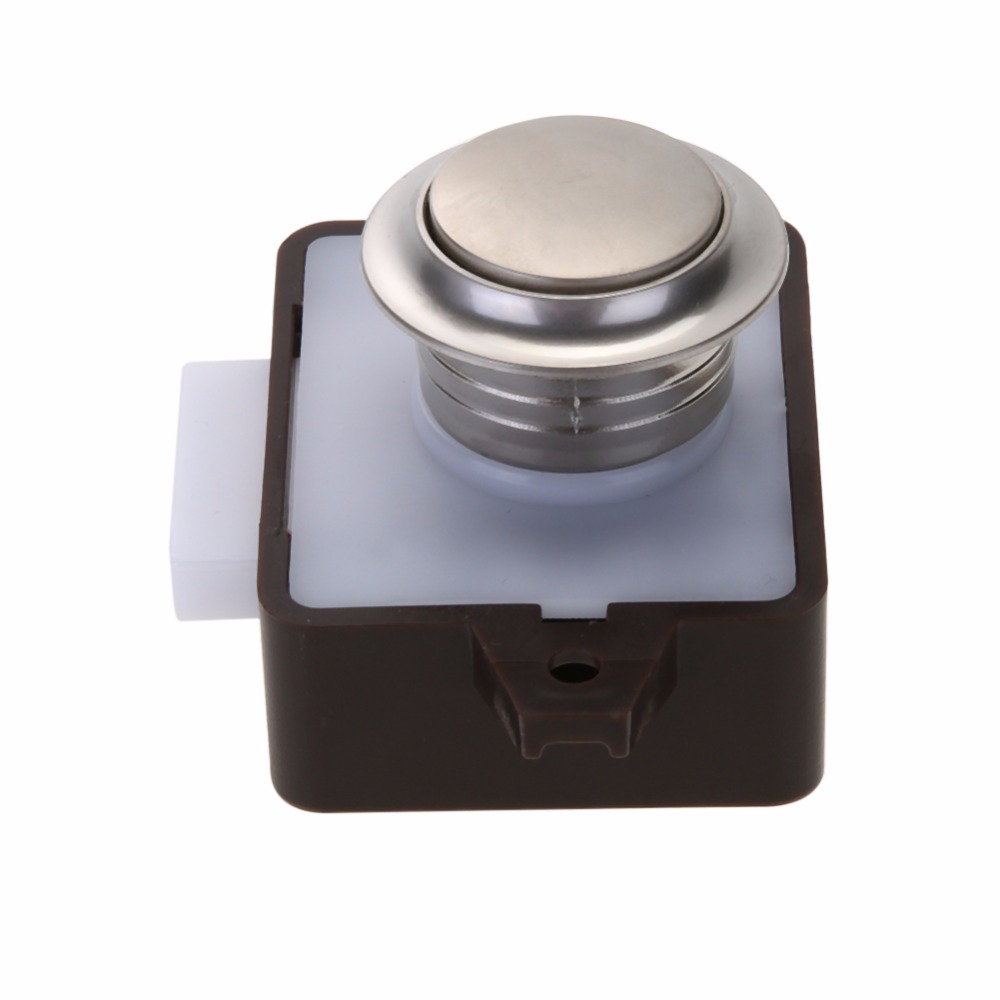 Large Push Lock Button Catch Lock Drawer Cupboard Door Knob for Ship ...