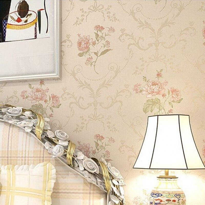 Beibehang papier peint pastorale douce damas damassé Floral luxe papier peint rouleau chambre décoration murale Papel De Paredes Para Sala - 3