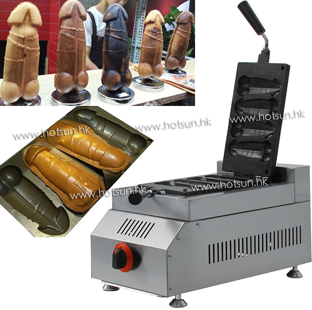 Free Shipping LPG Gas Hot Dog Penis Waffle Iron Maker Machine Baker mig mag burner gas burner gas linternas wp 17 sr 17 tig welding torch complete 17feet 5meter soldering iron air cooled 150amp