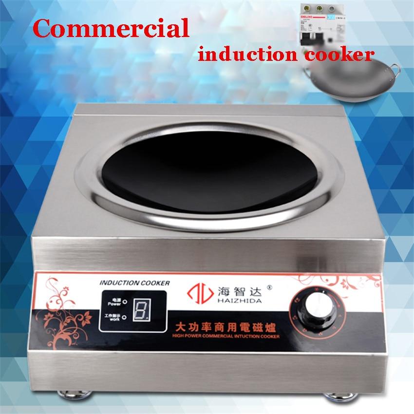 HZD-5KW-AX 220 V 50Hz cuiseur électrique commercial 5000 w puissant type de bureau de machine de cuisson avec 40,46, pot de 50 cm