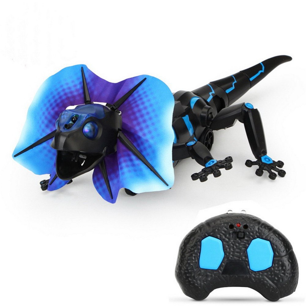 New Induction RC Simulation Lizard Electric Crawl Trick Toys with four modes drop shipping