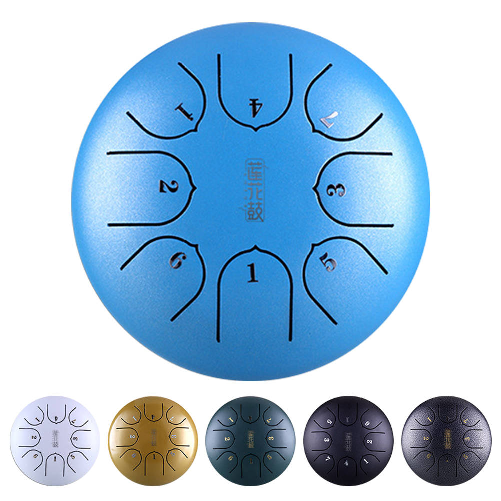 6 Inch 8 Notes With Mallets Gift Professional Steel Tongue Drum Tank Carry Mini Instrument Hand Pan Music Education G Tune C Key