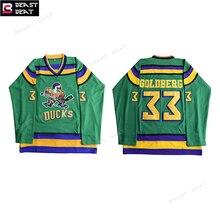 ... Ice Hockey Jersey Mighty Ducks Movie 33 Goldberg Jerseys Throwback  Stitched Jerseys Winter Windbreaker Sport Wear ... 388722e01